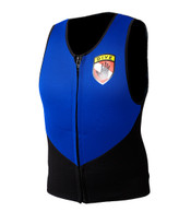 Body Glove 3mm Barrier Men's Vest in Black / Royal - Front