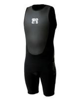 Body Glove Fusion Back Zip 2mm Men's Short John in Black/Black
