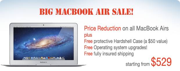 Save Now! Macbook Airs from only $499 shipped!