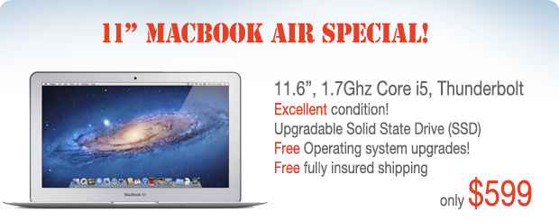 11 inch 1.7Ghz Core i5 Macbook Air for only $599 shipped!