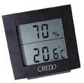 Credo Large Display Digital Hygrometer Thermometer Black