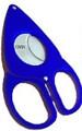 Credo Compact Scissor Cigar Cutter 54 Ring Blue