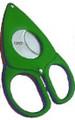 Credo Compact Scissor Cigar Cutter 54 Ring Green