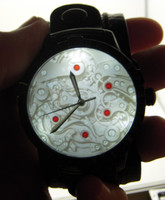 """MECH"" design with handade strap - HaloTech Lithophane Watch with 3D LED backlight"