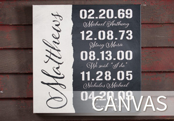 Shop Personalized Canvas Signs