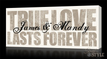 True love lasts forever wall art