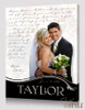 Personalized wedding photo wall art