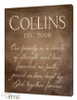 Personalized canvas wall art with scripture, TB1/Cream