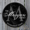 Personalized wood last name sign
