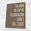 Motivational quote on canvas