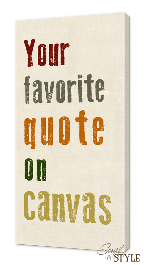 Sayings Wall Art Canvas : Canvas wall art with quotes quotesgram