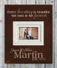 Personalized picture frame with quote, Brown