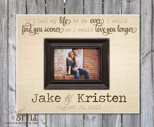 Personalized picture frame, Cream