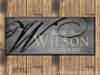 Personalized family established sign/Gray-Black
