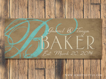 Personalized Wood Family Name Sign