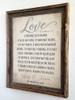 Personalized 1 Corinthians 13 Burlap Sign