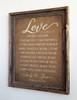 1 Corinthians 13 Burlap Sign