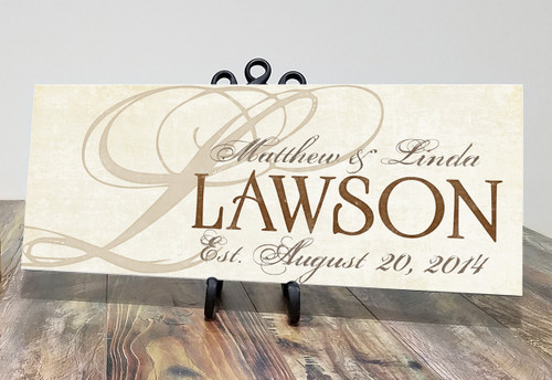 Personalized wooden family sign