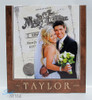 Wedding picture & marriage license sign