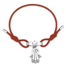 Metal CZ Moveable Hamsa Bracelet