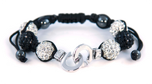 "White Metal ""Cuffs of Love"" Shambala Bracelet"