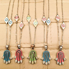 Movable Hamsa Hand Necklace