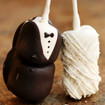 Bride & Groom Marshmallow Sticks