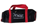 Martel Nylon #50 - 4 Ball Long Bag - Black with Red Handle/Black Trim