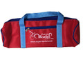 Nylon #50 - 4 Ball Long Bag - Black with Red Lt. Blue Handle/Blue Trim