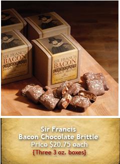 Sir Francis Bacon Chocolate бекон в шоколаде подарок на День Святого Валентина.