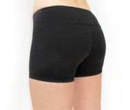 WOD Gear Black Wide Waistband Booty Shorts - Back
