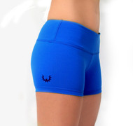 WOD Gear Royal Blue Wide Waistband Booty Shorts