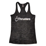AnFarm Apparel | Women's F*ck Thrusters Tank, Black Burnout