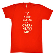 AnFarm Apparel | Men's Keep Calm T-Shirt, Red
