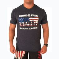 Home of the Free because of the Brave - Navy Front