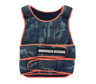 Unbroken Designs | Army Print - 30lb Weight Vest - Display