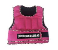 Unbroken Designs | Pink Leopard - 20lb Weight Vest - Front