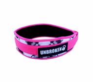 "Unbroken Designs | Pink Panther - 4"" Velcro Weightlifting Belt"