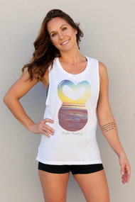 Belle&Bell | Sunset Belle - Flowy Muscle Tank - White