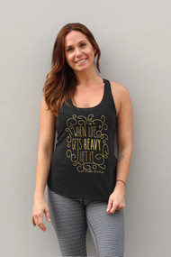 Belle&Bell | When Life Gets Heavy LIFT IT - Tank - Black