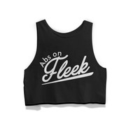 WODshop Women's Abs on Fleek Boxy Tank - Front