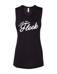 Women's Traps on Fleek Muscle Tank - Front