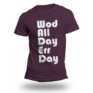 WODshop | Men's WOD All Day Err Day T-Shirt - Eggplant