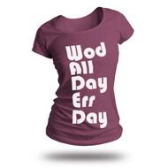 WODshop | Women's WOD All Day Err Day T-Shirt - Eggplant