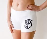 Born Primitive | Renewed Vigor Booty Shorts - White