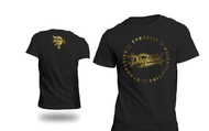 DogTown CrossFit | 2016 Logo Circle Tee - Limited Edition Black/Gold Foil