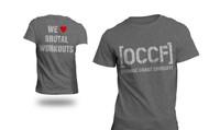Orange Coast CrossFit OCCF   I Heart Brutal Workouts Logo Tee - Gray