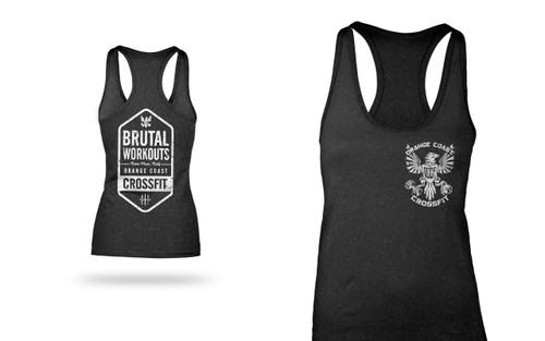 Orange Coast CrossFit [OCCF]   Brutal Workouts Eagle Logo Racerback Tank - Black