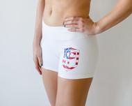 Born Primitive | Renewed Vigor Booty Shorts - White USA
