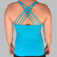 Electric Blue Vitality Tank - Back